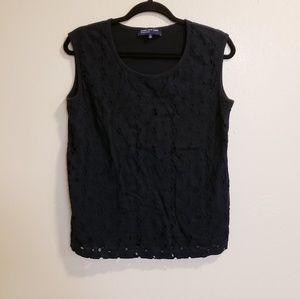 🛍Jones New York Signature Black Blouse